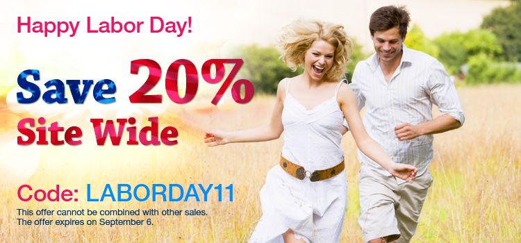 Happy Labor Day! Save 20% Site Wide