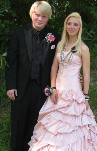 Here is us at my senior prom
