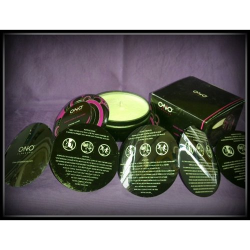 Ono Pleasure Massage Candle FV&SB- Packaging