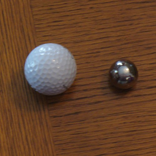golf ball and weighted orgasm ball