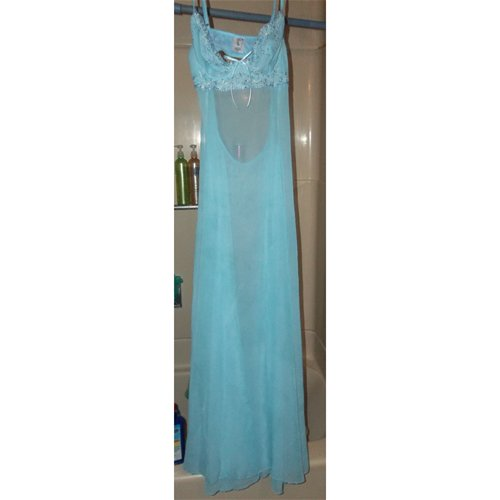 gown hanging in shower