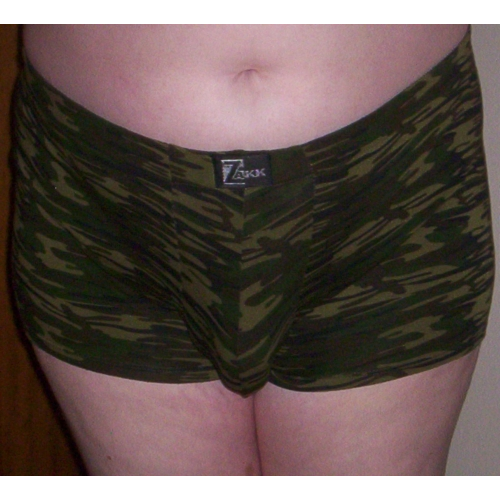 Front view - XL boxers with Mr Right packer